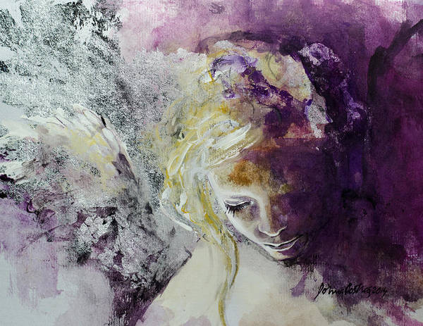 Angels Art Print featuring the painting Angel In Chiaroscuro by Dorina Costras