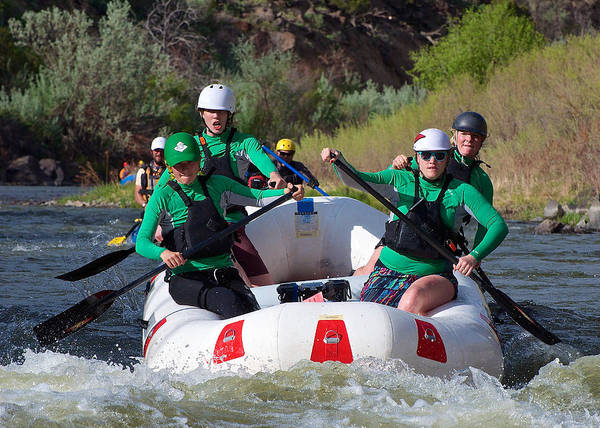 Raft Art Print featuring the photograph Animas Amazons by Britt Runyon