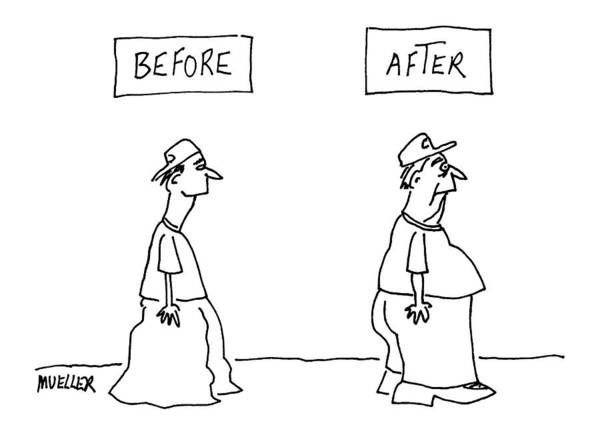 Before Art Print featuring the drawing Before And After: by Peter Mueller