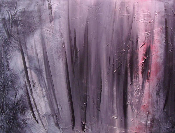 Abstract Art Print featuring the painting Behind shadows by Sergey Bezhinets