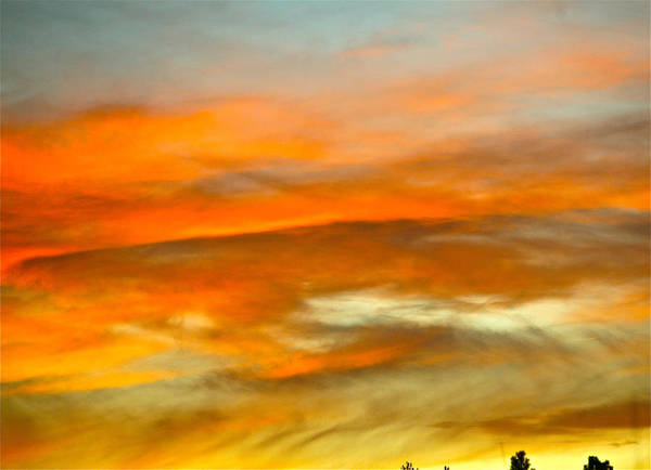 Sunset Art Print featuring the photograph Bend Abstract Sunset by Liz Santie