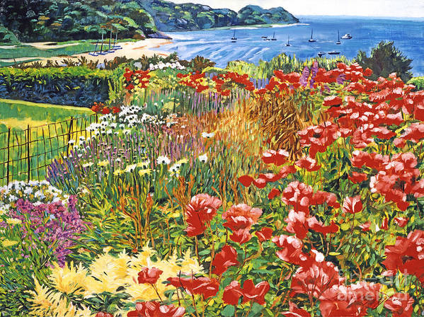 Seascape Art Print featuring the painting Cape Cod Ocean Garden by David Lloyd Glover