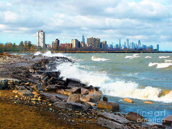 Chicago Art Print featuring the photograph Chicago South Lakefront by Cedric Hampton