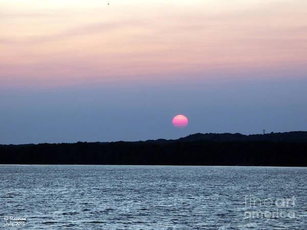 Sun Art Print featuring the photograph Delta Lake Sunset by Rennae Christman