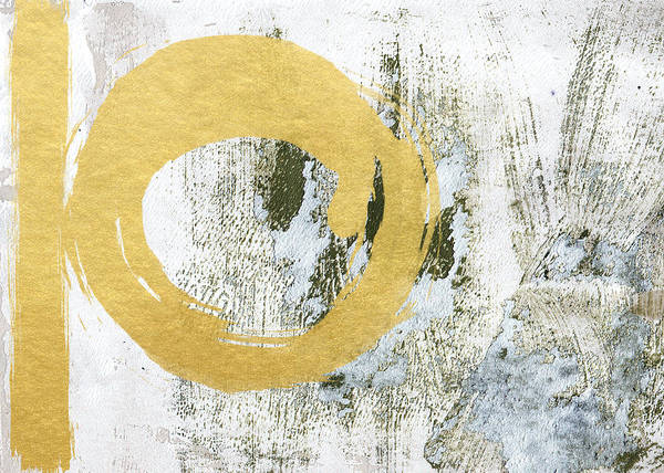 Gold Art Print featuring the painting Gold Rush - Abstract Art by Linda Woods