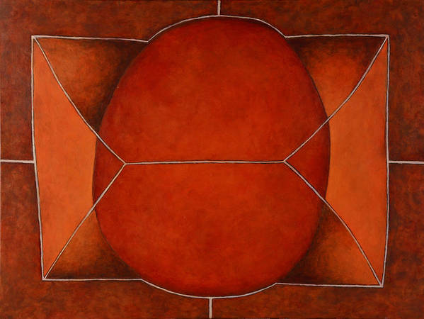 Abstract Art Art Print featuring the painting Held In 2 by David Douthat