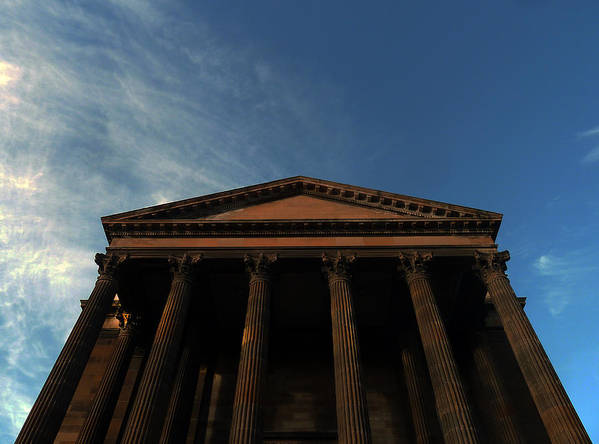 Scottish Church Art Print featuring the photograph Imposing And Enigmatic Structure by Baato