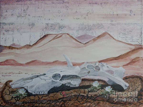 Arizona Art Print featuring the painting Life From Death In The Desert by Ian Donley