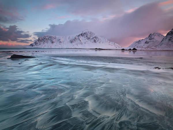 Scenics Art Print featuring the photograph Lofoten Island Sunrise by Antonyspencer