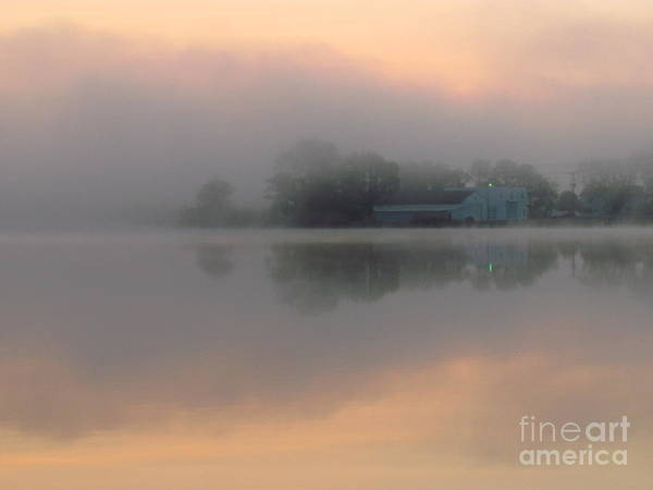 Nature Art Print featuring the photograph Mist At Dawn 02 by Rrrose Pix