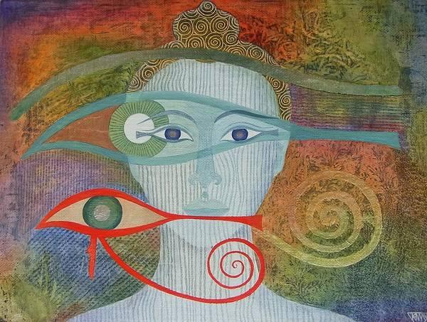 Buddha Art Print featuring the painting Naked Awareness by Jennifer Baird