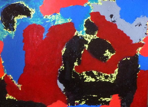 Abstract Art Print featuring the painting No. 422 by Vijayan Kannampilly