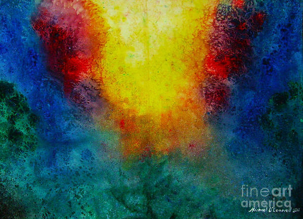 The Light Art Print featuring the painting Ocean of Love and Mercy by Michael D