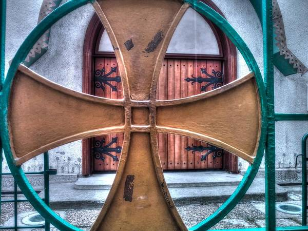 Architectural Feature Art Print featuring the photograph Old Church Door by Serdjophoto