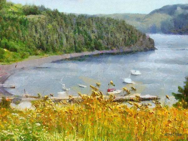 Canadian Art Print featuring the painting Overlooking the Harbor by Jeffrey Kolker
