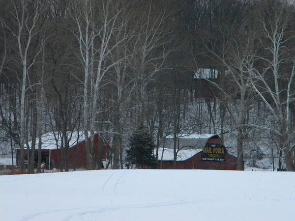 Snow Art Print featuring the photograph Putnam County Farm in Winter by Helen ONeal
