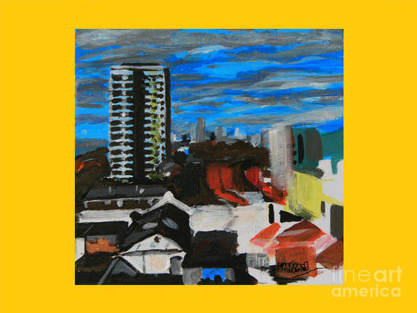 Settle Point Art Print featuring the painting Settle Point - Plaistow East London by Mudiama Kammoh
