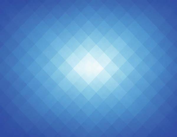 Empty Art Print featuring the digital art Simple Blue Pixels Background by Simon2579