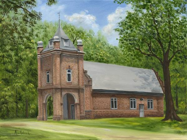Historic Church Art Print featuring the painting St. Peter's Church by Anne Kushnick