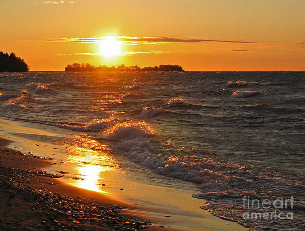 Sunset Art Print featuring the photograph Superior Sunset by Ann Horn