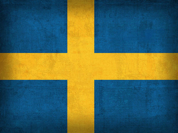 Sweden Flag Vintage Distressed Finish Art Print featuring the mixed media Sweden Flag Vintage Distressed Finish by Design Turnpike