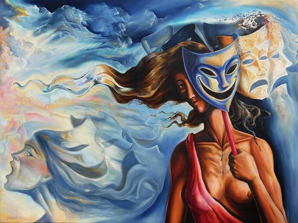 Surrealism Art Print featuring the painting The path of Irony II by Darwin Leon