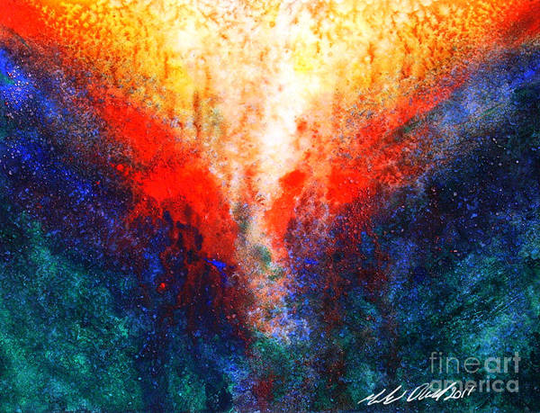 Phoenix Art Print featuring the painting The Phoenix by Michael D
