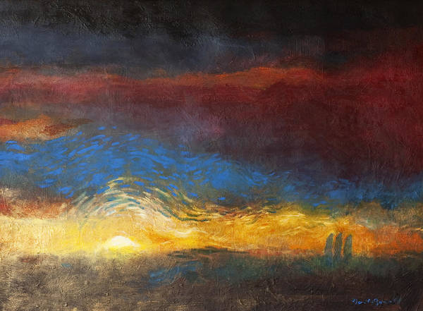 The Road To Emmaus Art Print featuring the painting The Road to Emmaus by Daniel Bonnell