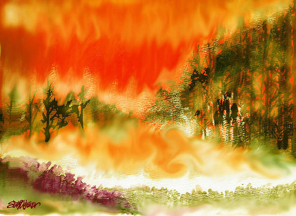 Timber Blaze Art Print featuring the mixed media Timber Blaze by Seth Weaver