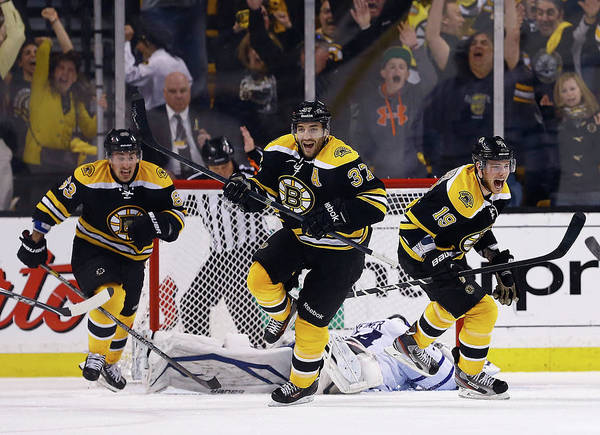 Following Art Print featuring the photograph Toronto Maple Leafs V Boston Bruins - by Jared Wickerham
