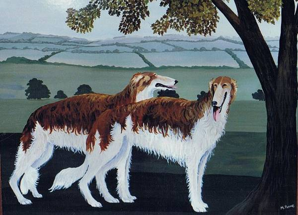 Borzoi Art Print featuring the photograph Untitled by Maggie Rowe