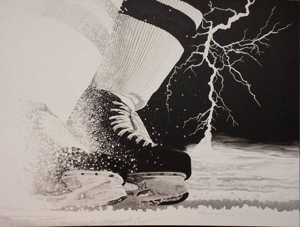 Painting Art Print featuring the painting Waiting on the thunder by Scott Robinson