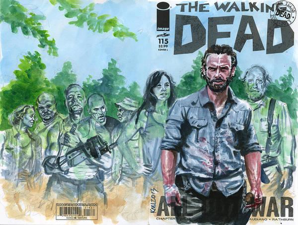 Walking Dead Art Print featuring the painting Walking Dead Ghosts by Ken Meyer jr
