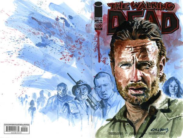 Walking Dead Art Print featuring the painting Walking Dead by Ken Meyer jr