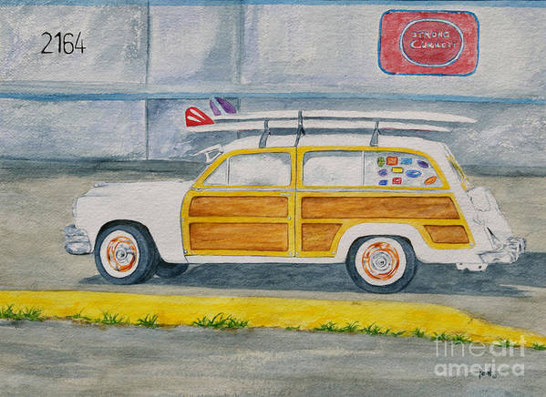 Woody Paintings Art Print featuring the painting Woody by Regan J Smith