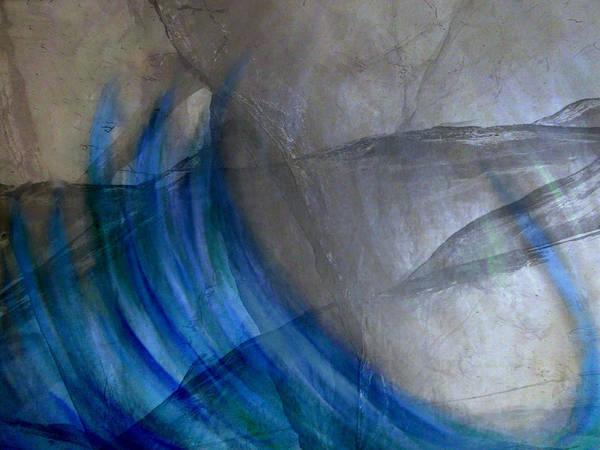 Abstract Art Print featuring the digital art Aqua by Joseph Ferguson