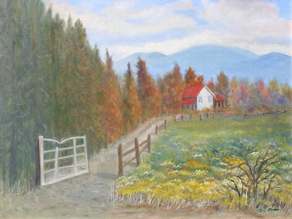 Art Print featuring the painting Country Road by Ben Kiger