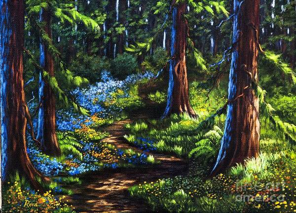 Landscape Art Print featuring the painting Guardians by Patricia Reed