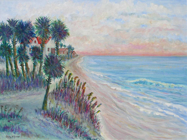 Seascape Art Print featuring the painting Isle of Palms by Ben Kiger
