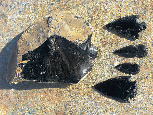 Obsidian Art Print featuring the photograph Obsidian by Andonis Katanos