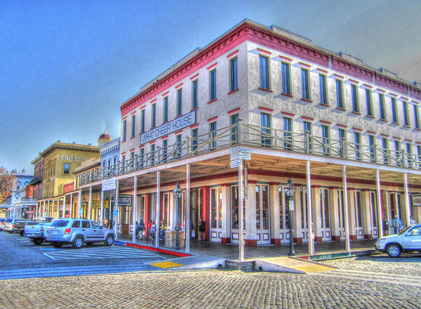 Street Corner Art Print featuring the photograph Old Towne Sacramento by Barry Jones