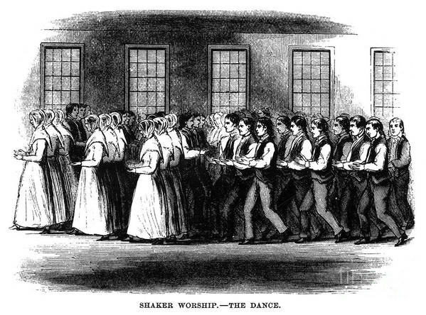 1875 Art Print featuring the photograph Shaker Worship by Granger