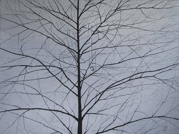 Winter Trees Art Print featuring the painting Sorrow by Roger Calle