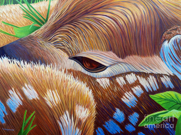 Fawn Art Print featuring the painting This Life We Share by Brian Commerford