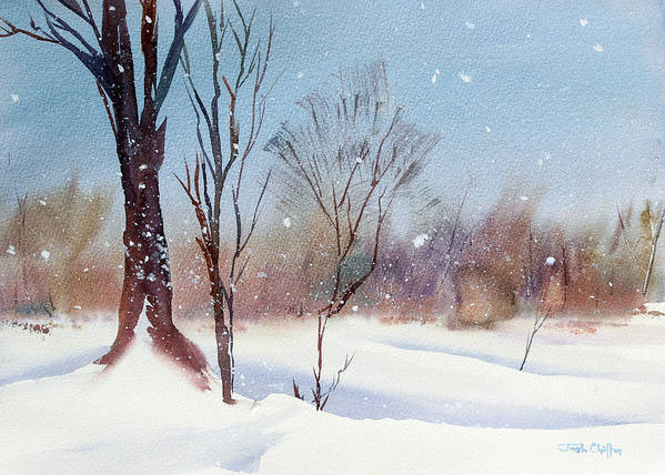 Winter Landscape Art Print featuring the painting Today's Blanket. by Josh Chilton