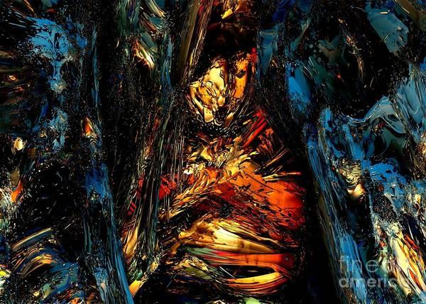 Fractal Art Art Print featuring the digital art Treasure by Bernard MICHEL