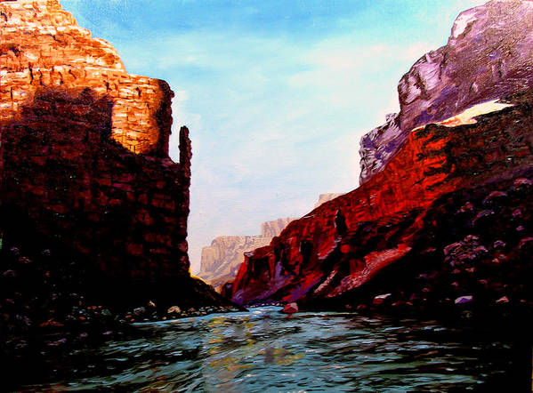 Grand Canyon Art Print featuring the painting Grand Canyon IV by Stan Hamilton