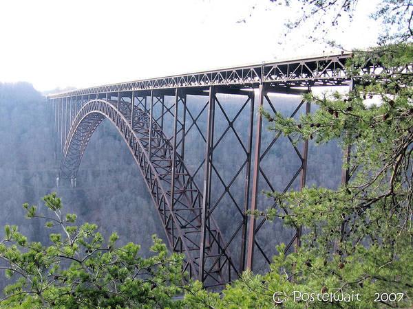 New River Gorge Bridge Art Print featuring the photograph New River Gorge Bridge by Carolyn Postelwait