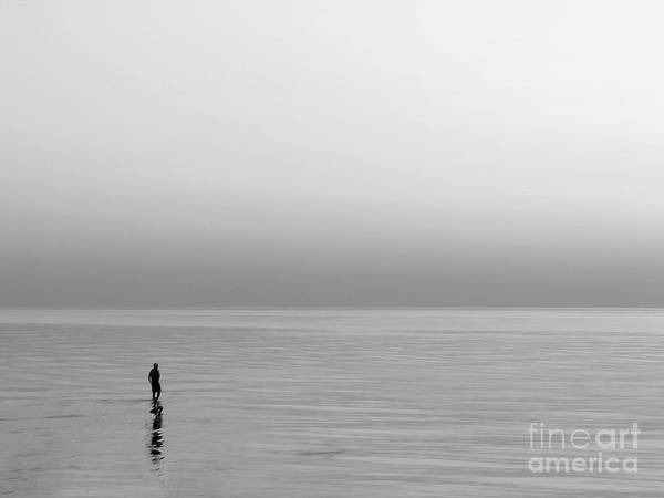 Lake Art Print featuring the photograph One Man by Dana DiPasquale