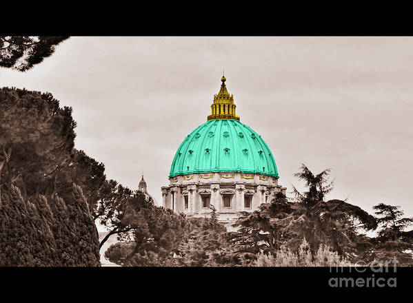 Saint Art Print featuring the photograph St. Peters Basilica by Eric Liller
